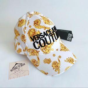 ⭕️ VERSACE JEANS Cap Hat White Gold Logo Unisex